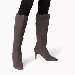 Dune London   Knee High Suede Boots
